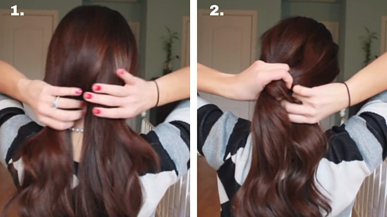 knotted ponytail 1 & 2