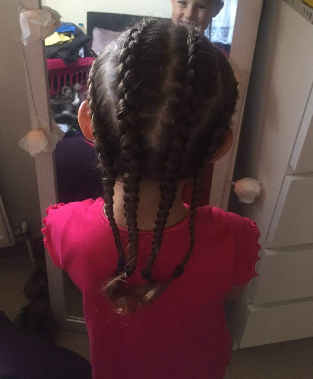 french plaits for crimped look