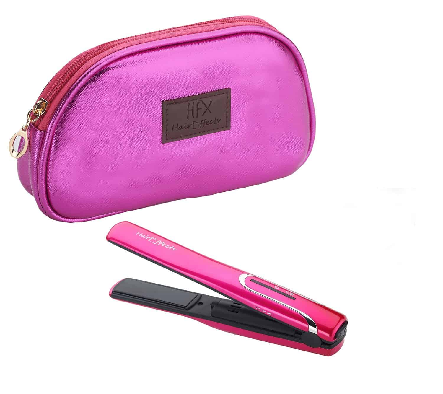 HFX Rechargeable USB Cordless Hair Straightener pouch