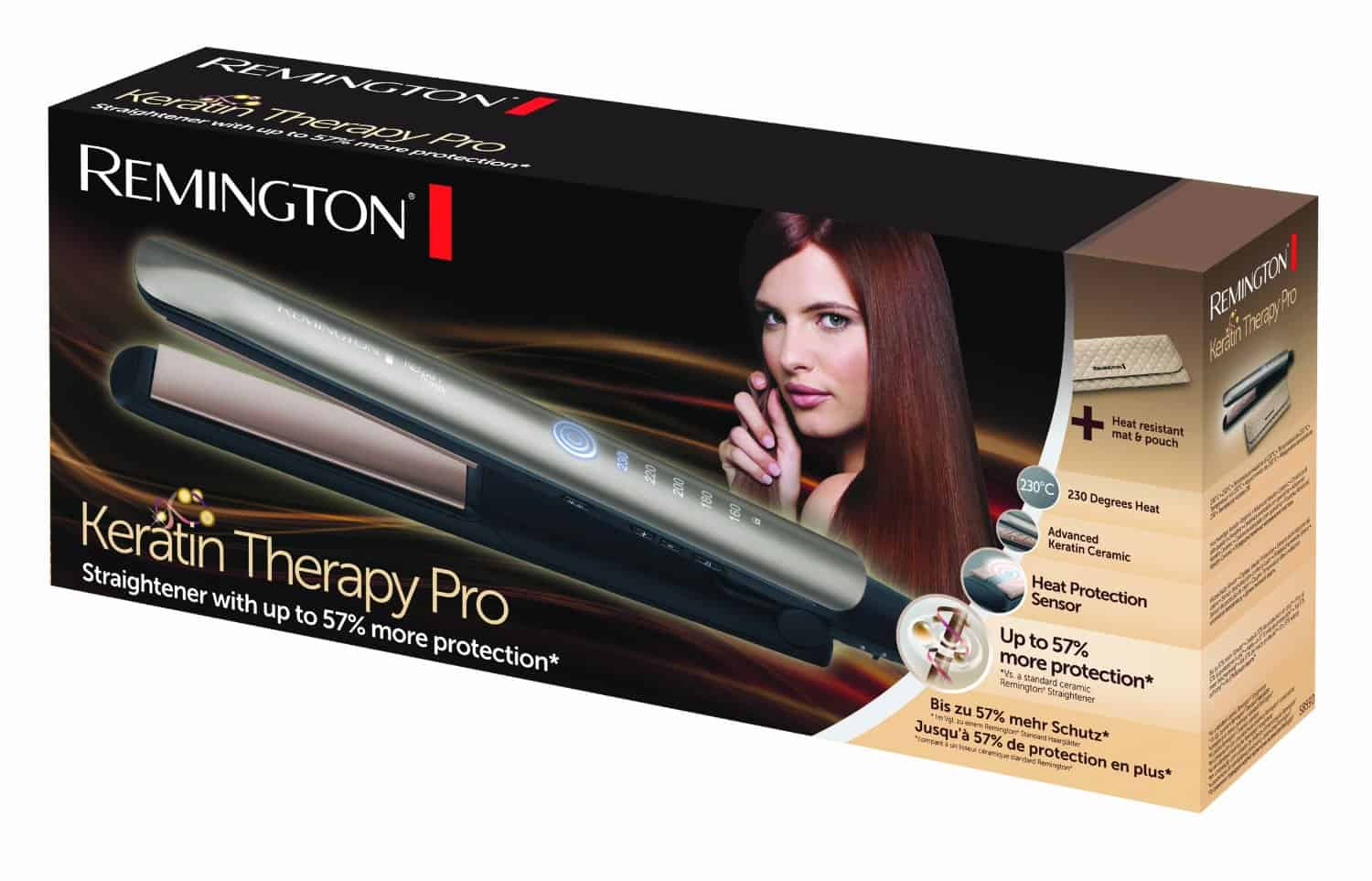 Remington S8590 Keritin Therepy Pro Straightener box