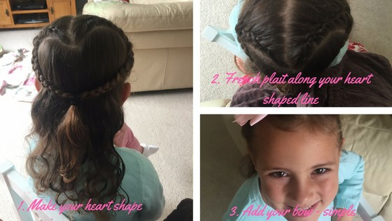 heart shaped french plait