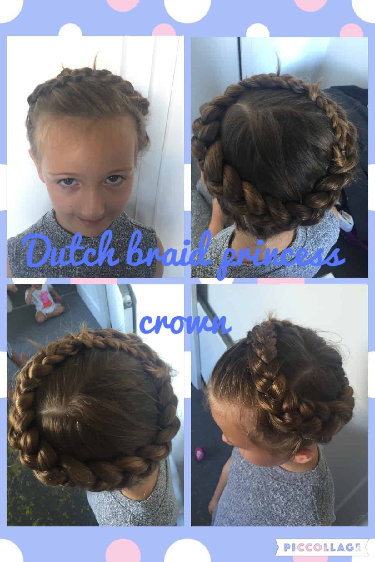 dutch braid princess crown